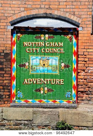 Nottingham Adventure Sign.