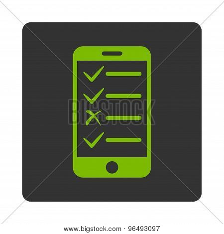 Mobile Tasks Icon from Commerce Buttons OverColor Set