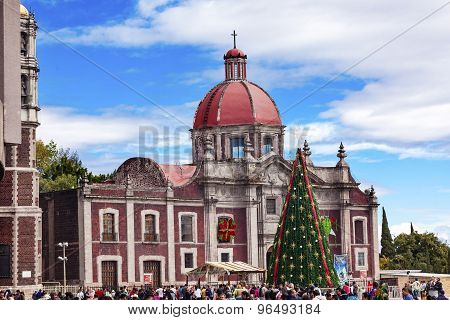 Old Basilica Shrine Guadalupe Christmas Mexico City Mexico