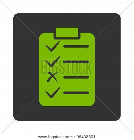 Task List Icon from Commerce Buttons OverColor Set