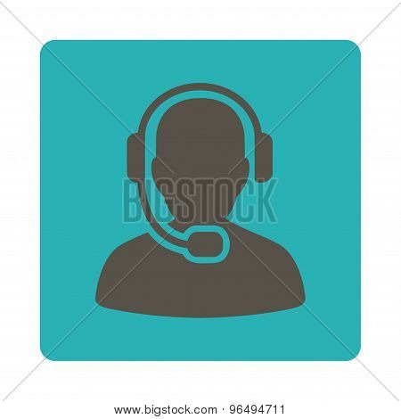 Call Center Operator Icon from Commerce Buttons OverColor Set