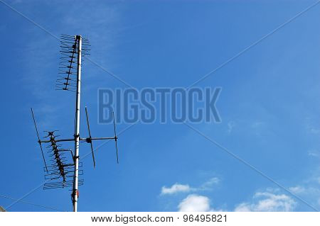 Television Aerials With Space For Copy