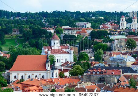 View From A Viewing Platform Of Gediminas Tower On Old Town, Vilnius