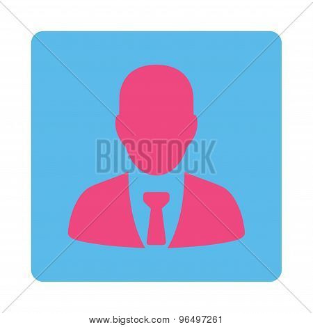Businessman Icon from Commerce Buttons OverColor Set
