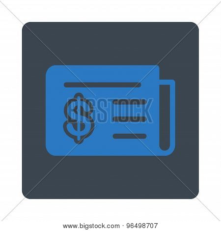 Financial News Icon from Commerce Buttons OverColor Set