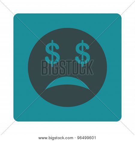 Bankrupt  Icon from Commerce Buttons OverColor Set