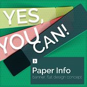 foto of slogan  - Flat design square banner with slogan - JPG