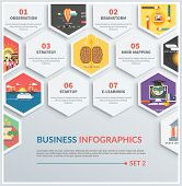 stock photo of observed  - Icons infographic of brainstorm - JPG