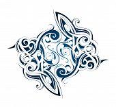 picture of maori  - Body art ink tattoo with Maori ethnic elements - JPG