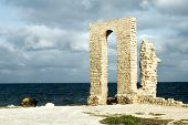 Ancient Arch - Ruins Over Seashore poster