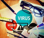 stock photo of no spamming  - Virus Internet Security Phishing Spam Concept - JPG