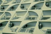 image of air conditioner  - lot of air conditioners on a facade of building - JPG