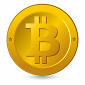 pic of bitcoin  - Bitcoin vector illustration isolated in white background - JPG