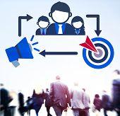 foto of mentoring  - Coaching Leadership Mentoring Target Concept - JPG