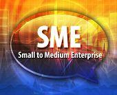 stock photo of enterprise  - word speech bubble illustration of business acronym term SME small medium sized enterprise - JPG