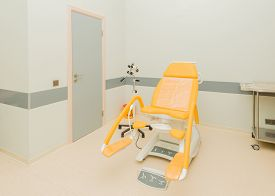 stock photo of gynecological exam  - Gynecology room in the hospital - JPG