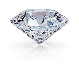pic of reflections  - A beautiful sparkling diamond on a light reflective surface - JPG