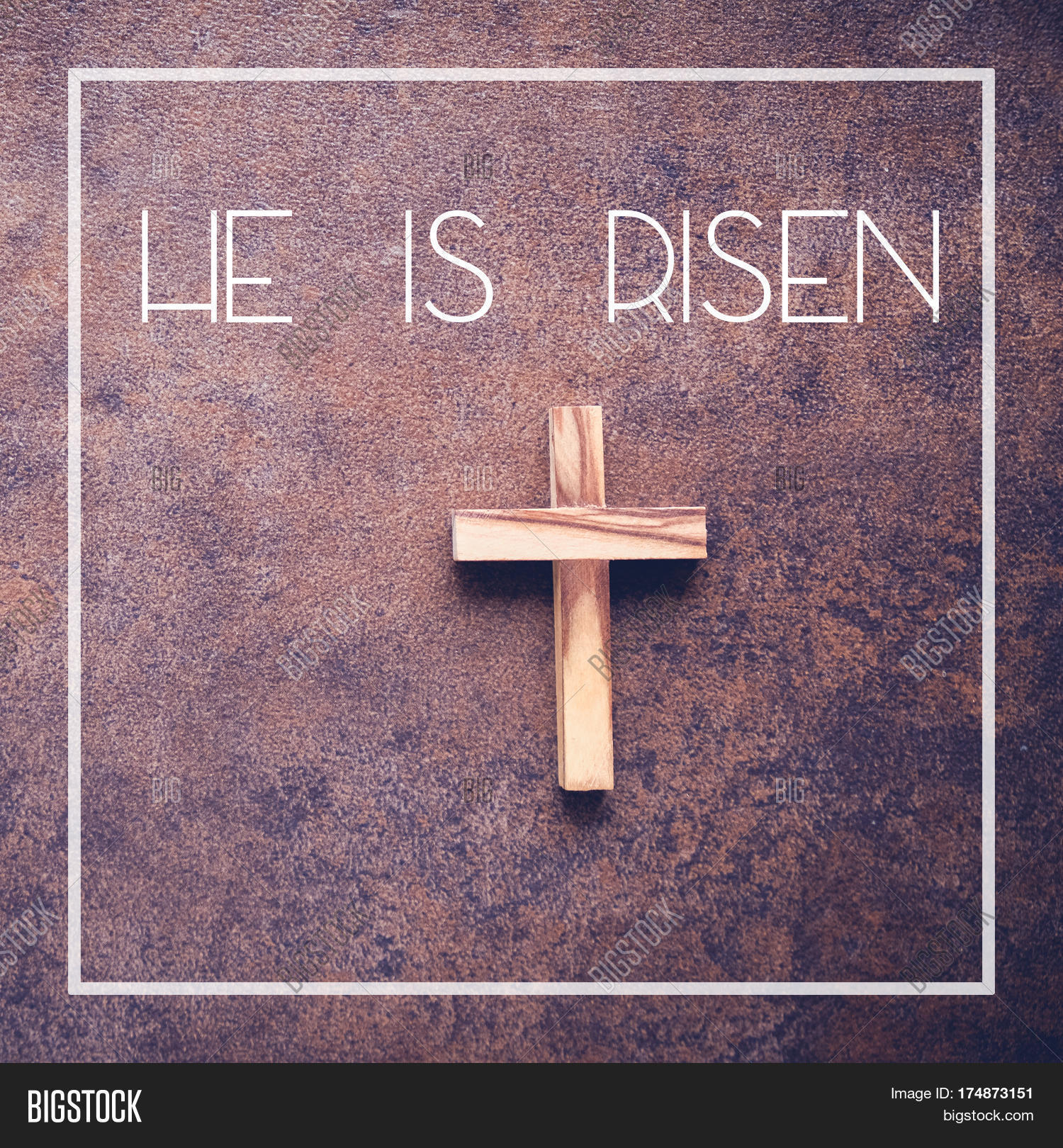 He risen word wooden cross on dark image photo bigstock he is risen word and wooden cross on dark background buycottarizona Choice Image