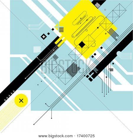 futuristische digital Hintergrund Vektor