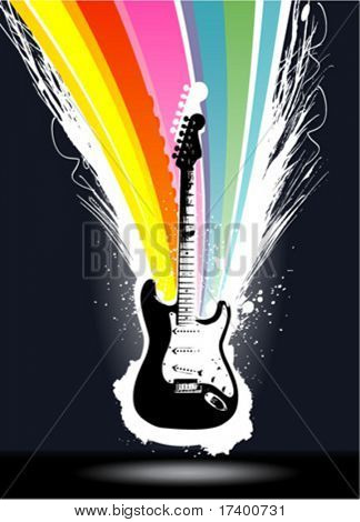 abstract colorful explosion guitar background