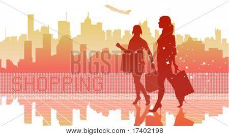 big city women shopping