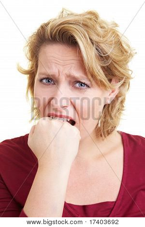 Woman Biting Her Fist