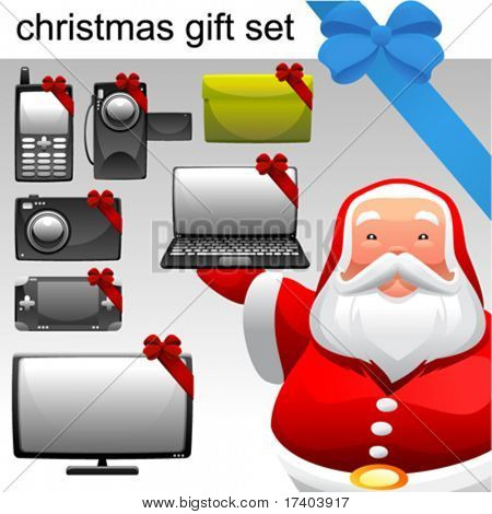 christmas concept electronic set