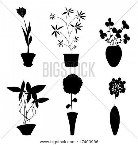 Blumen und Topf