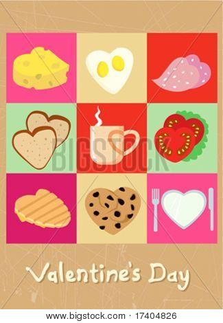 valentine concept food design