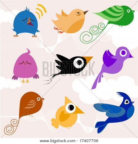 Cartoon Bird set