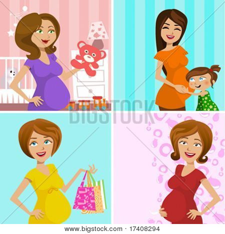 pregnant mother (four different design)