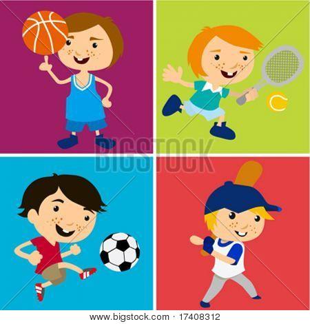 crianças de esporte