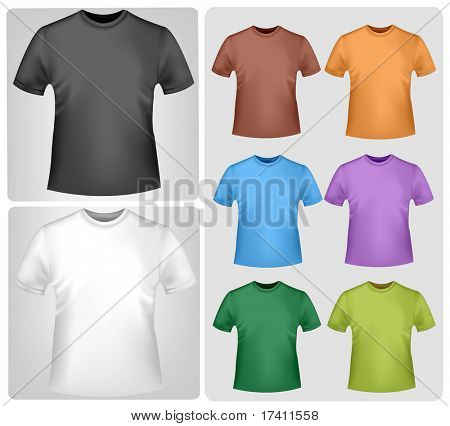 Colored shirts. Photo-realistic vector illustration.