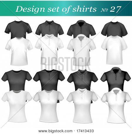 Veintiséis diseño conjunto de camisa. Vector.