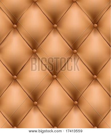 Sepia picture of genuine leather upholstery.  Vector Illustration.