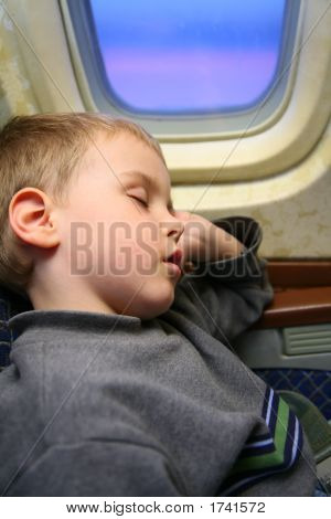 Boy Airplane Sleep