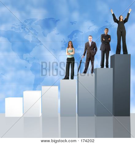 Business Team Work - Graph Of Success