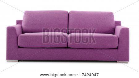 sofá moderno de rosa