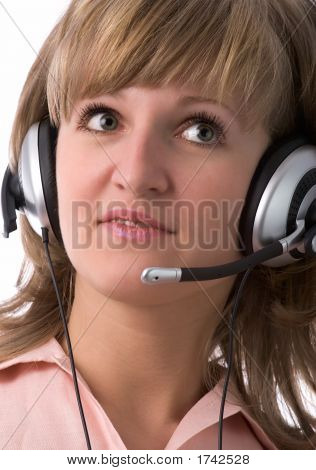 Serious Customer Support Girl