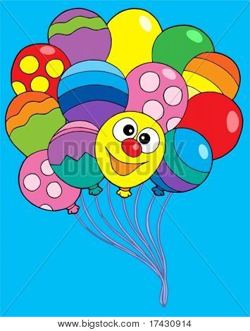 Various color balloons - vector illustration.