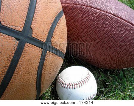 Closeup Of Three Balls