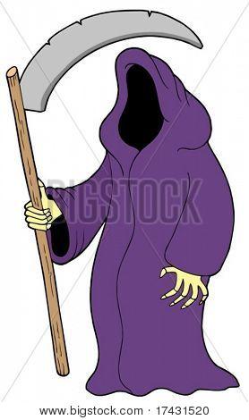 Grim reaper on white background - vector illustration.