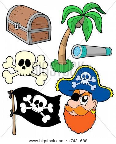 Pirate collection 2 - vector illustration.