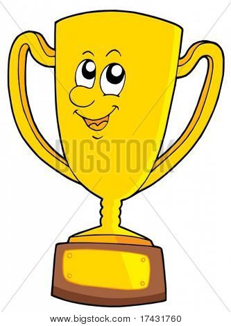 Cute goblet - vector illustration.