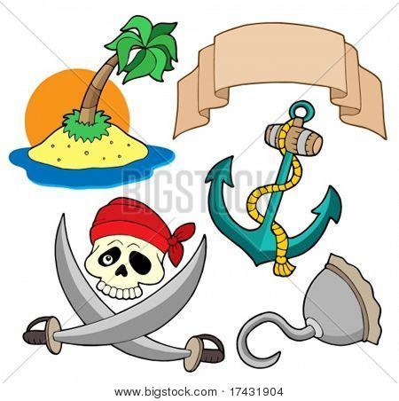 Pirata coleção 4 - ilustração do vetor.
