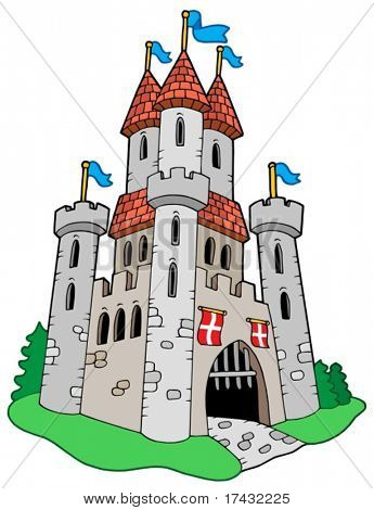 Medieval castle - vector illustration.