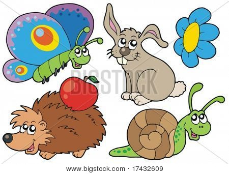 Small animals collection 7 - vector illustration.