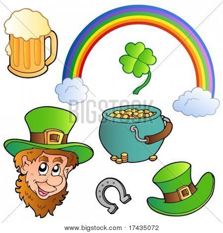 Coleção do dia de St Patrick 3 - ilustração do vetor.