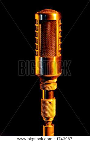 Retro Gold Vocalist Microphone