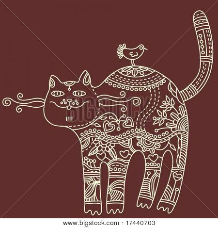 decorative vector cat